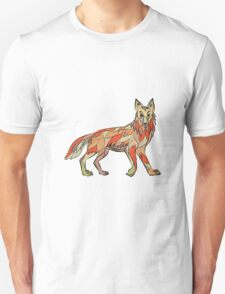 Coyote Side Isolated Drawing T-Shirt