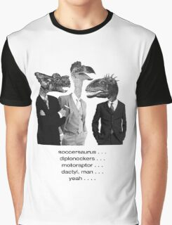 The Saurus Society - No Extinction Theory Conversation Graphic T-Shirt