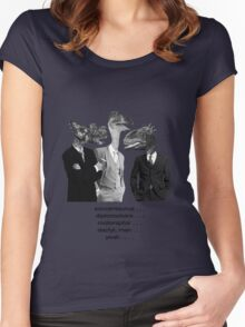 The Saurus Society - No Extinction Theory Conversation Women's Fitted Scoop T-Shirt