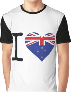 I Love New Zealand Graphic T-Shirt