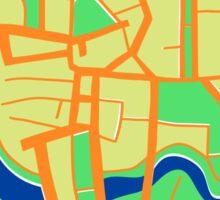 Seamless pattern of city map. Sticker