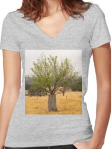 Tree of life 3 Women's Fitted V-Neck T-Shirt