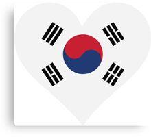I Love South Korea Canvas Print