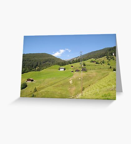 Remote alpine farmhouse photographed in Tirol, Austria  Greeting Card