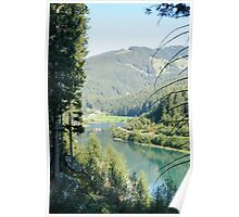 Gmund Dam and power plant Near Gerlos Pass, Zillertal, Tirol, Austria  Poster