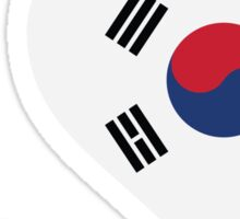 I Love South Korea Sticker