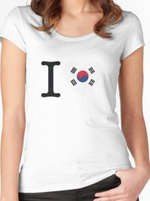 I Love South Korea Women's Fitted Scoop T-Shirt