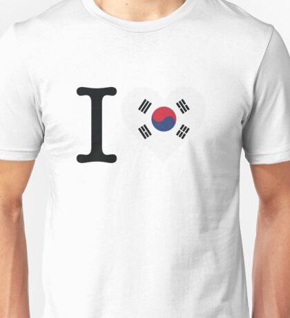 I Love South Korea Unisex T-Shirt