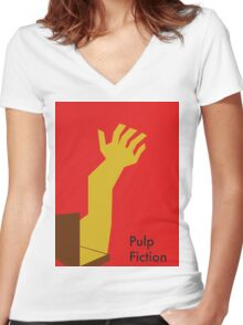 Pulp Fiction Soul Case Women's Fitted V-Neck T-Shirt