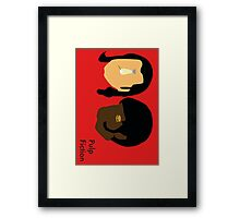 Pulp Fiction- Main Characters Framed Print