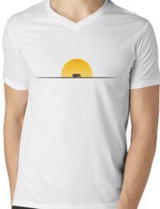 Star Wars Episode 7 Jakku Sunset Mens V-Neck T-Shirt