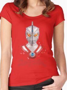 LOW POLYGON PORTRAIT - ULTRAMAN ACE Women's Fitted Scoop T-Shirt