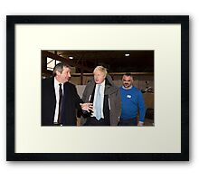 Boris Johnson  & Doug Taylor Framed Print