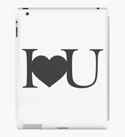 I love you V.1.0 iPad Case/Skin