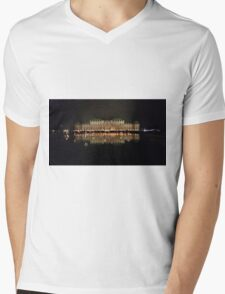 The Belvedere Palace in Vienna at night. Mens V-Neck T-Shirt