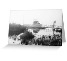 Foggy Harbor North Shore 5 Bw Greeting Card