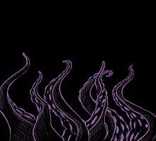 Purple Sketched Tentacles by Alden