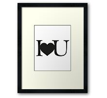 I love you V.1.1 Framed Print
