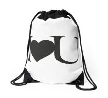 I love you V.1.1 Drawstring Bag