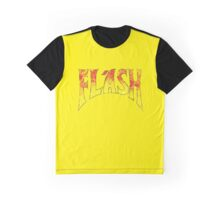 Flash Gordon - Gradient Distressed red yellow Logo Graphic T-Shirt