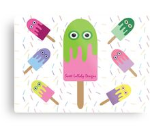 Adorable Ice-cream and sprinkles Metal Print