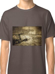 A digital painting of a Shipwreck at Corbiere Light, Channel Islands Classic T-Shirt