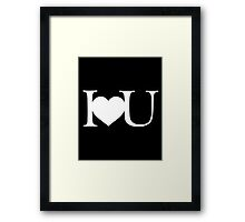 I love you V.1.2 Framed Print
