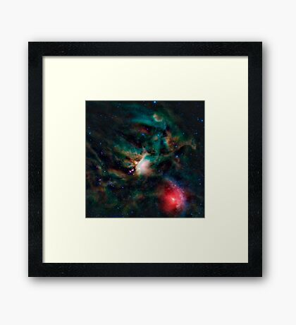 The Rho Ophiuchi cloud complex. Framed Print