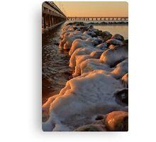 Stones in winter Canvas Print