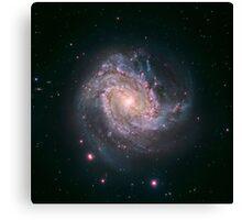 Barred spiral galaxy Messier 83. Canvas Print