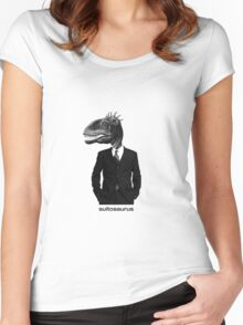 The Saurus Society - No Extinction Theory - Suitosaurus Women's Fitted Scoop T-Shirt