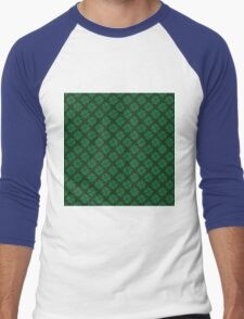Lucky clovers for St. Patrick's Day parade. Ireland. Hearts. Green. Men's Baseball ¾ T-Shirt