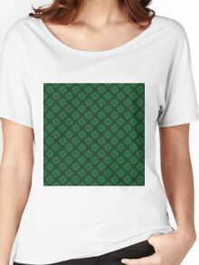 Lucky clovers for St. Patrick's Day parade. Ireland. Hearts. Green. Women's Relaxed Fit T-Shirt