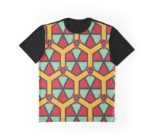 Honeycombs triangles and other shapes pattern Graphic T-Shirt