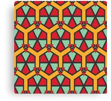Honeycombs triangles and other shapes pattern Canvas Print