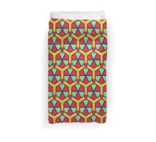 Honeycombs triangles and other shapes pattern Duvet Cover
