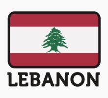 National Flag of Lebanon by artpolitic