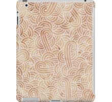 Iced coffee and white swirls doodles iPad Case/Skin