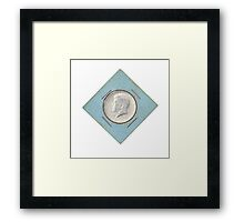 Silver Kennedy Half Dollar 1964 collector's item  Framed Print