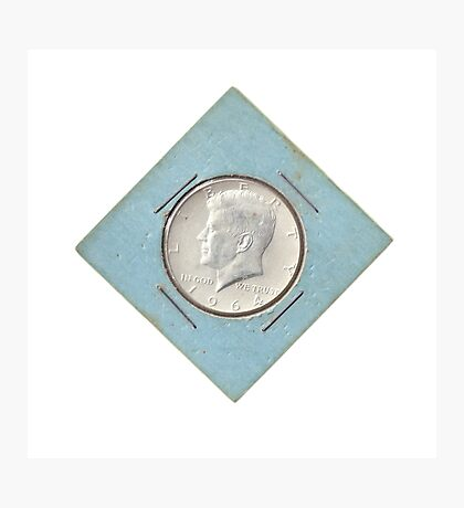 Silver Kennedy Half Dollar 1964 collector's item  Photographic Print