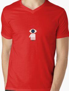 Eyelien in black Mens V-Neck T-Shirt