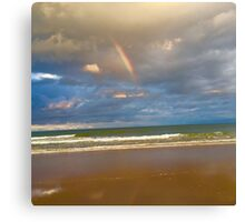 Rainbow in the midst of the storm Canvas Print