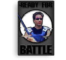 Fox Mulder- Ready for Battle Canvas Print
