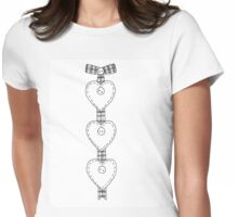 Ribbon Heart - Outline Womens Fitted T-Shirt