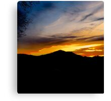 The end of the day, vivid colors on display  Canvas Print