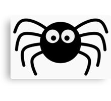 Little black spider Canvas Print