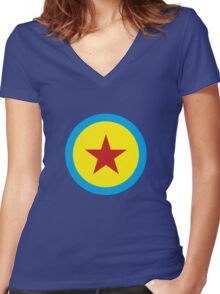 Toy story ball Women's Fitted V-Neck T-Shirt
