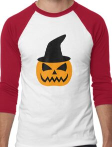 Jack-O-Lantern Pumpkin Hat Men's Baseball ¾ T-Shirt