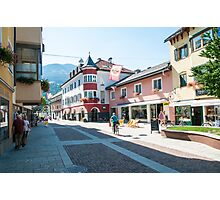 Lienz, Tyrol, Austria. the main pedestrian and shopping street  Photographic Print