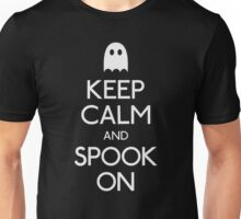 Keep calm and spook on ghost Unisex T-Shirt